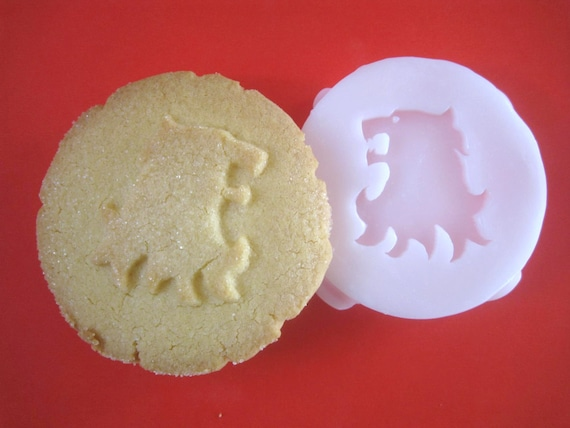 HOUSE LANNISTER inspired lion or Gryffindor inspired COOKIE Stamp recipe and instructions - make your own Game of Thrones inspired Cookies