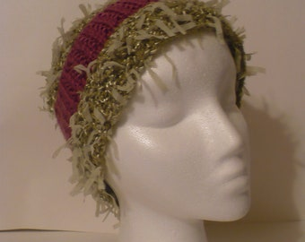"fun , ""shaggy"" knit hat"