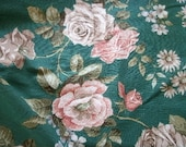 Lovely Vintage Sanderson Cotton/Linen Floral Fabric Remnant NEW