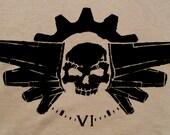 Divebomb' Unique Men's Steampunk Shirt -Tan