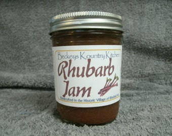 Homemade Rhubarb jam, Handcrafted, Deliciously Sweet, jam & jelly