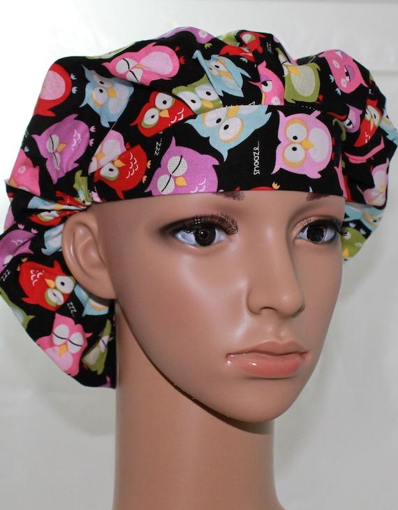 Women's Scrub Hat/ Bouffant Style/ Beautiful Designer fabric