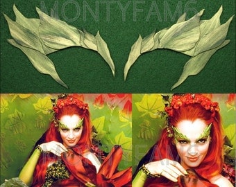 Poison Ivy Spring GREEN leaf Eyebrow Costume Mask Cosplay COmic COn Uma Thurman ELF Mother Earth