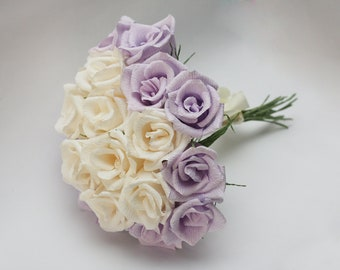 wedding bouquet, bridesmaids flowers, bridesmaid bouquet, paper flower bouquet, bouquet bridal, paper flowers, wedding flowers