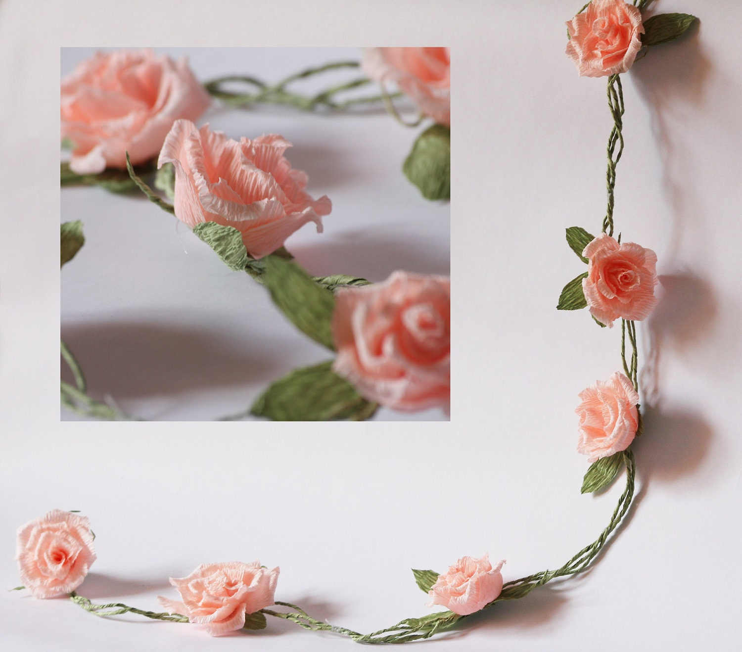 wedding garland paper wedding garland paper flower garland