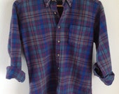 Womens Petite Plaid Pendleton Wool Shirt