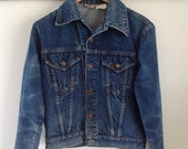 Perfectly Worn-In Fitted Sears Roebucks Jean Jacket