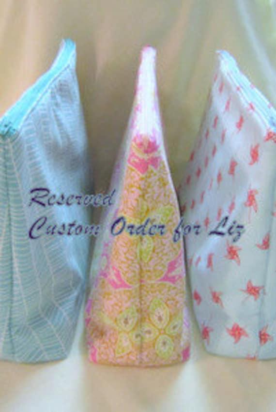 3 Tote bag - Custom Order for Liz