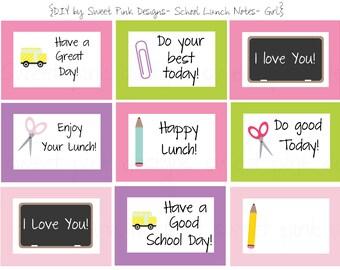 School Lunch Notes- Girls