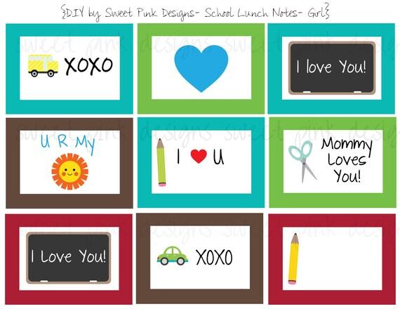 Preschool Lunch Box Notes- Boy