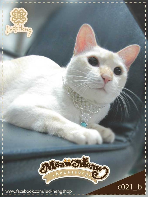 Cat Collar pearl beads and pendants