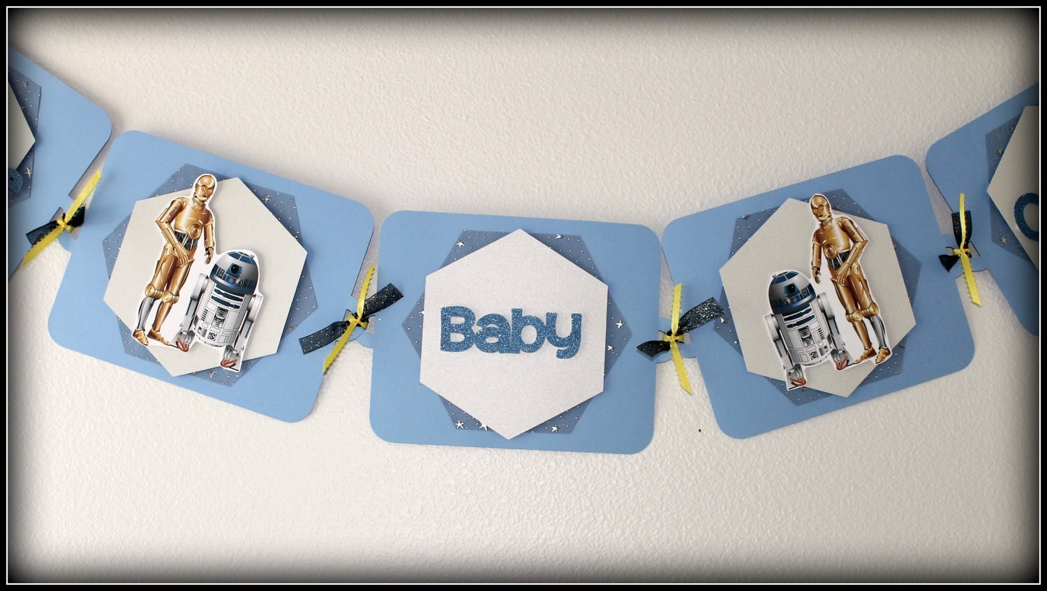 star wars baby shower banner boy or girl