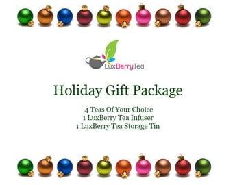 Tea Gift Package - 4 Teas, 1 Infuser, 1 Tin