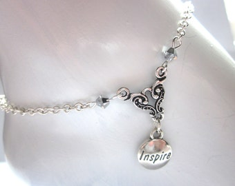 INSPIRE  anklet, summer jewelry