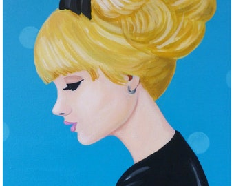 Nanette, sixties girl with a black bow