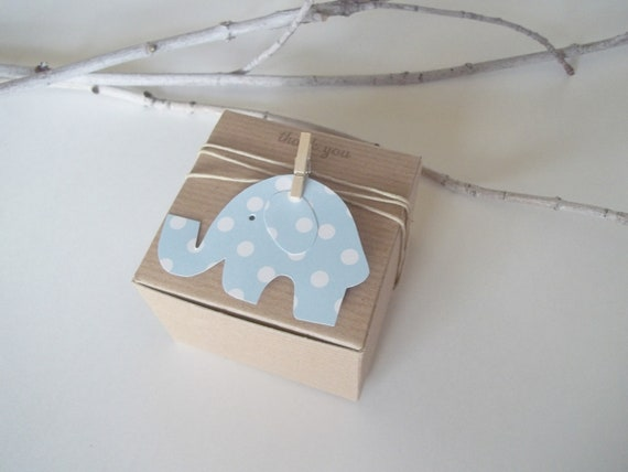 Favour Boxes Baby Blue : Baby shower favor box blue polka dot by thelondonloft