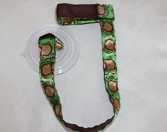 Sippy Cup Leash | Sippy Strap | Sippy Cup Strap Suction Cup | Bottle Tether | Sippy Cup Strap | Suction Sippy Strap | Monkey