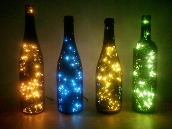 Wine Bottle Lamp by beautifuleverytime on Etsy