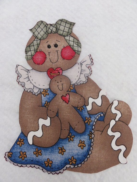 Iron On Gingerbread Girl  - 9 X 61/2 Inches - Christmas