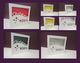 Christmas wishes papercut cards (pack of 4)