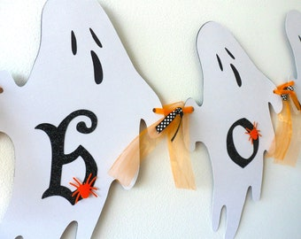 HALLOWEEN Ghost banner READY to ship