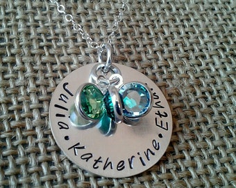 Mom Necklace - Family Necklace - Grandma Necklace - Stamped Evermore