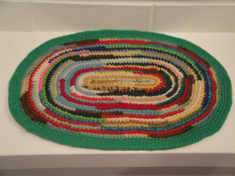 Star Wars Crochet Doll Pattern : Colorful Crochet Oval Dollhouse Rug Carpet Handmade Miniature