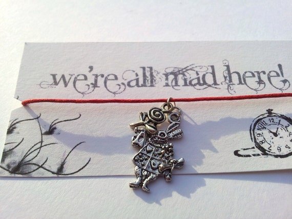 Painting the Roses Red Alice in Wonderland friendship bracelet on waxed cotton cord