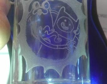AdventureTime Finn and Jake Glass Jar