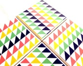 Drink Coasters Ceramic Tile Triangles Pyramid Tribal Set