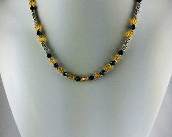 Steelers Black N Gold Necklace