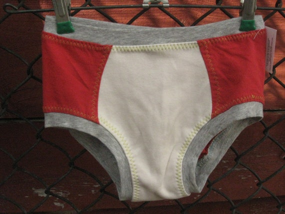 Size 8 Upcycled underwear kids children child toddler repurposed recycled reclaimed tshirt undies panty panties