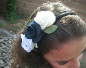 Back to school beautiful.... felt roses perfect for your uniform