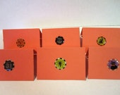 Reserved for Teamdream Halloween Mini Note Cards Set of 12 Costume Party Place Setting Cards