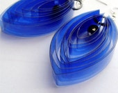 Plastic bottle earrings - royal blue/cobalt//Eco-friendly/Handmade/PET jewelry/Lightweight/Upcycled women's earrings