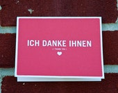 Ich Danke Ihnen Wedding Thank You Card