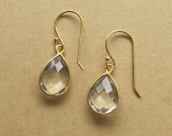Green Amethyst Earrings- Amethyst Gemstone Earrings- February Birthstone Earrings
