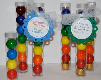 Clear plastic tubes with caps - CHOOSE SIZE  - Qty 25 - use for storage - party & shower favors - quick easy gifts - food save gumball tubes
