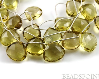 Natural '' NO TREATMENT'' Lemon Topaz Extra Large Faceted Flat Heart Drops, AAA Quality Gemstones 15-20mm , 1 Strand (LTZXLGradHRT)