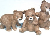 SWEETEST  3 BEARS Porcelain Figurines 1980s