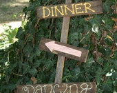 Dinner and Dancing Wedding Reception sign