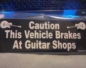 Fun Guitar Player Bumper Sticker