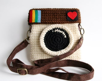 Crochet Instagram Purse - Love IG (Original Color)