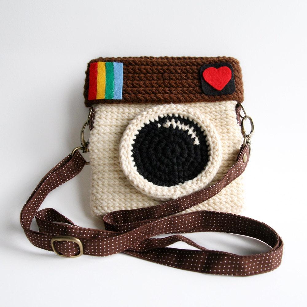 crochet instagram purse love ig original color. Black Bedroom Furniture Sets. Home Design Ideas