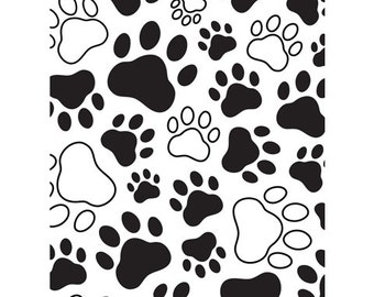 Darice -  PAW PRINTS EMBOSSING Folder - PUPPy and KITTy PaW PRINTs NeW and Hard to Find