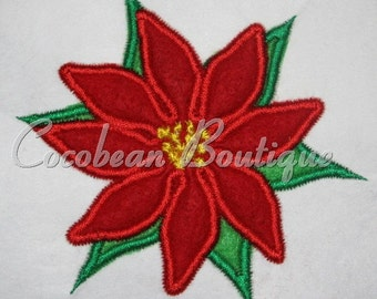 embroidery applique poinsetta