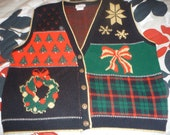 Ugly Christmas Sweater Vest, Size L