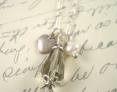 Silver heart charm necklace by Cerise Jewelry
