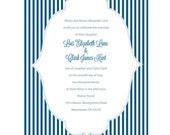 The Kimberly Wedding Invitation, Stripes, Set of 25