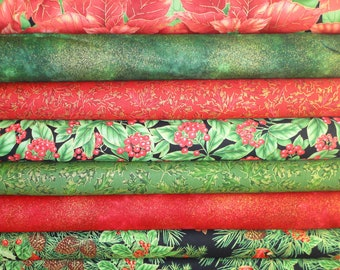 Natures Holiday by Timeless Treasures 8 Half yards red/green